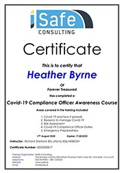 Covid 19 compilent certificate.